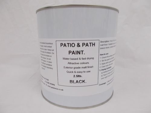 2.5lt Patio, Path & Paving Slab Paint Garden BBQ Tarmac - Black