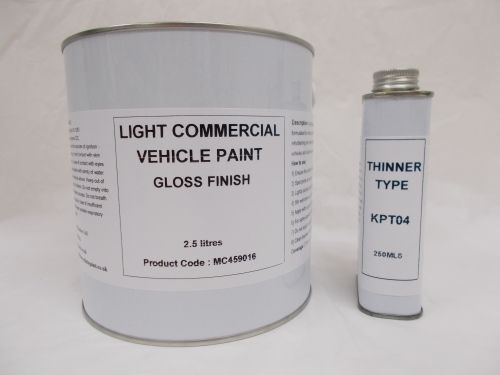 2.5lt Light Commercial Automotive Gloss Paint Trailer Horse Box Van