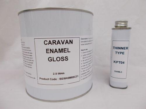 2.5lt Caravan Gloss Enamel Paint RAL Colours Mobile Home