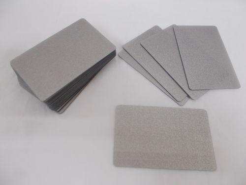 100 Blank PVC Credit Cards Silver ID Card