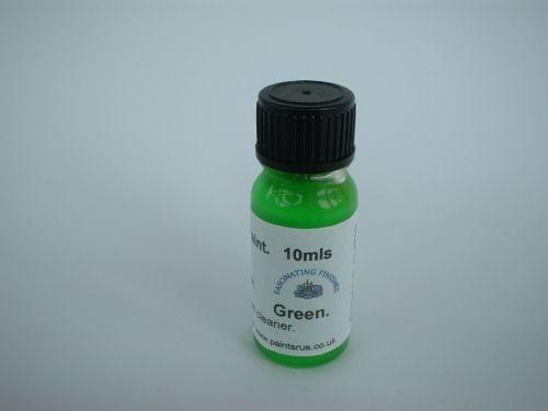 1 x 10ml Green Hi Vis Florescent Float Paint With Brush