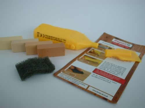 Laminate Floor, Worktop, Furniture, Melamine Repair Kit Light Wood
