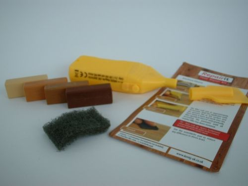 Laminate Floor, Worktop, Furniture, Melamine Repair Kit Medium Wood