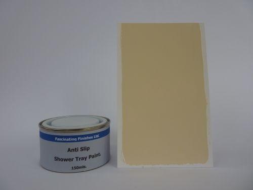 1 x 150ml Cream Anti Slip Shower Tray And Bath Paint