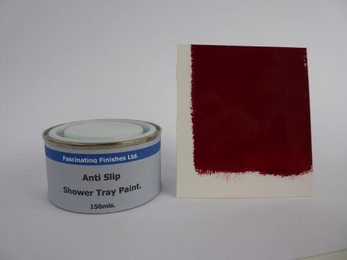 1 x 150ml Burgundy Maroon Anti Slip Shower Tray Paint Bath Antislip