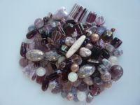 250 Mixed Glass Acrylic Jewellery Making Craft Beads Blackberry Fool