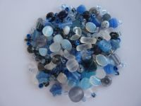 250 Mixed Glass Acrylic Jewellery Making Craft Beads Deep Sea