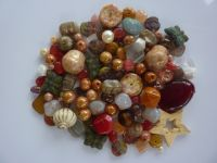 250 Mixed Glass Acrylic Jewellery Making Craft Beads Fudge Delight