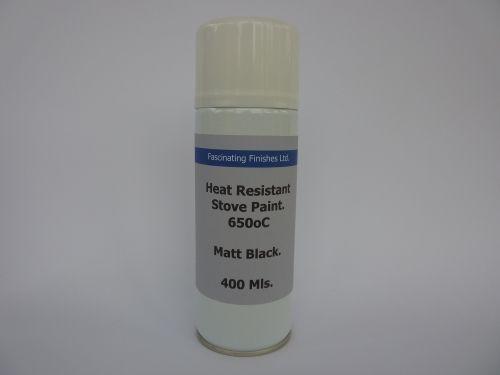 400ml Aerosol Heat Resistant Matt Black BBQ Stove Paint 650oC