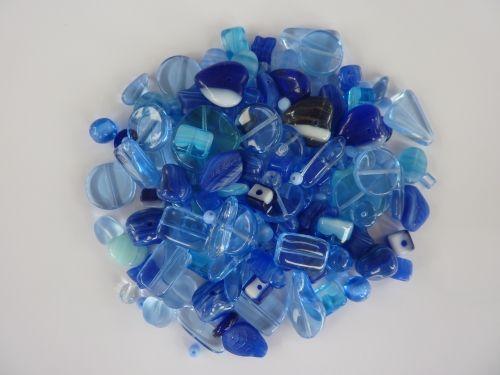 250 Mixed Glass Acrylic Jewellery Making Craft Beads Mediterranean