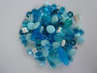 250 Mixed Glass Acrylic Jewellery Making Craft Beads Pacific