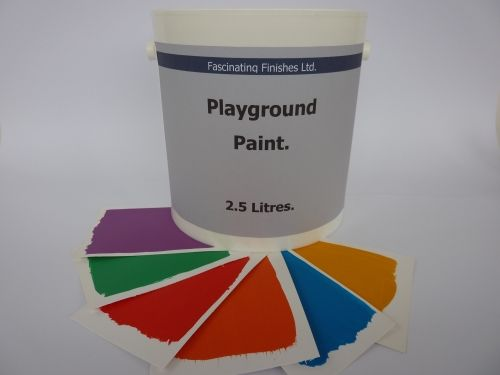 1 x 2.5lt Playground Paint 9 Colours For Playgroup School Nursery Line Marking