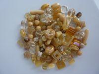250 Mixed Glass Acrylic Jewellery Making Craft Beads Popcorn