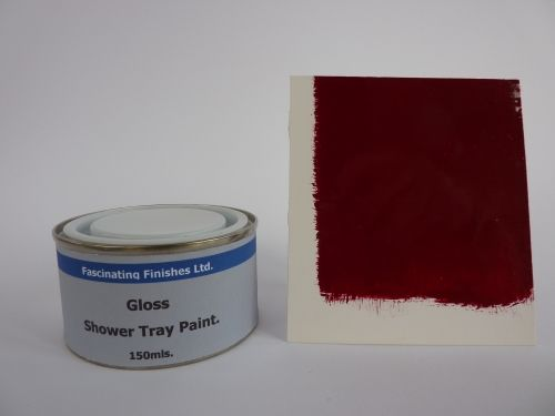 1 x 150ml Burgundy / Maroon Gloss Shower Tray Paint