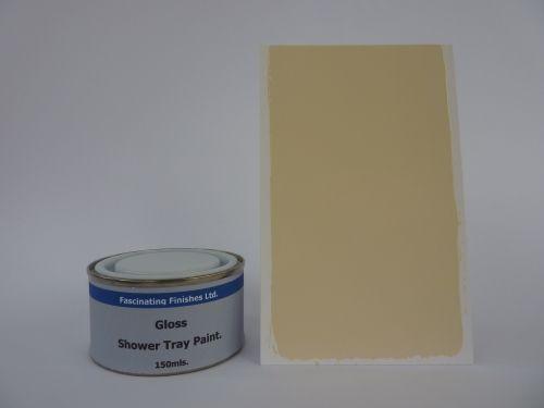 1 x 150ml Cream Gloss Shower Tray Paint