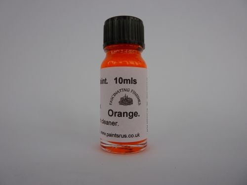 1 x 10ml Orange Hi Vis Florescent Float Paint With Brush