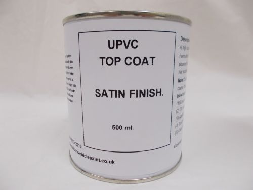 500mls UPVC Top Coat Satin Paint - Window Door Caravan