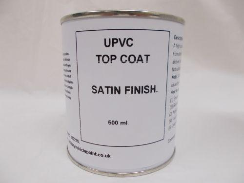 500mls UPVC Top Coat Satin Paint - Window Door Caravan